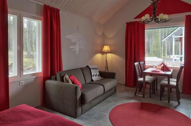 Santa Claus Holdiay Village, cabaña estándar, salón