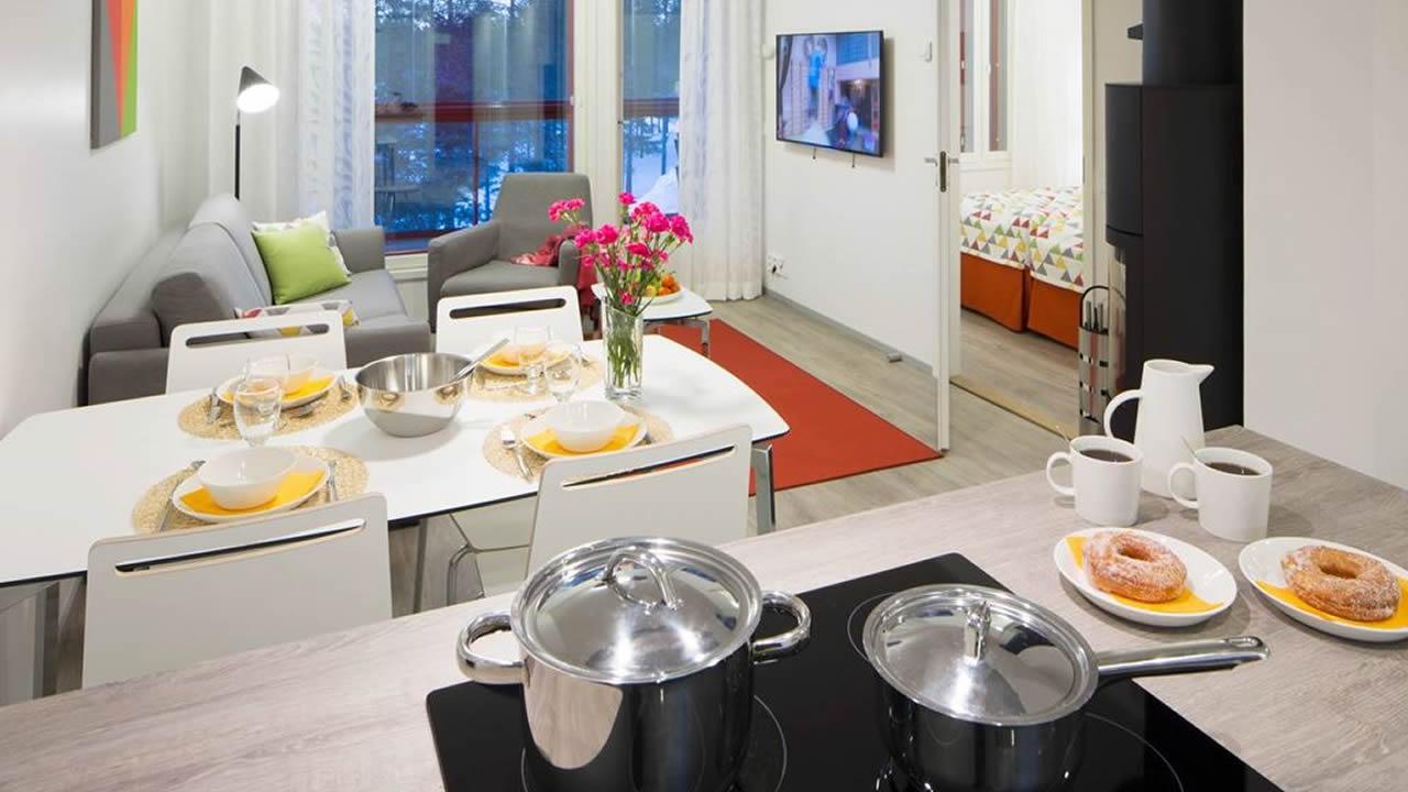 Villas (Apartamentos), cocina, salón