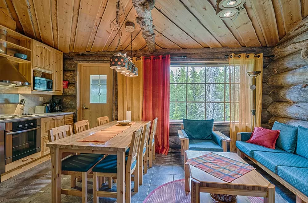 Rukan Salonki, cabañas 70 m2, interior