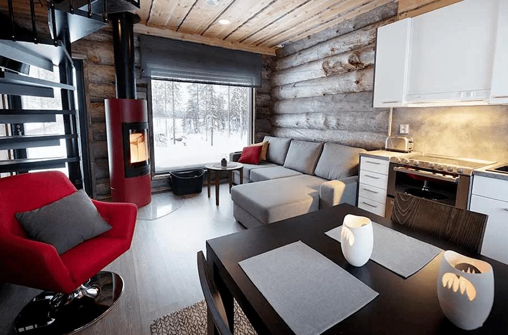 Rukan Salonki, villas apartamentos, 55 m2, cocina y salón