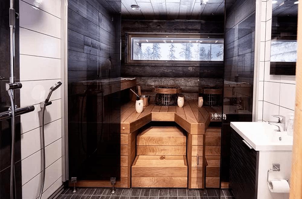 Rukan Salonki, villas apartamentos, duchas y sauna