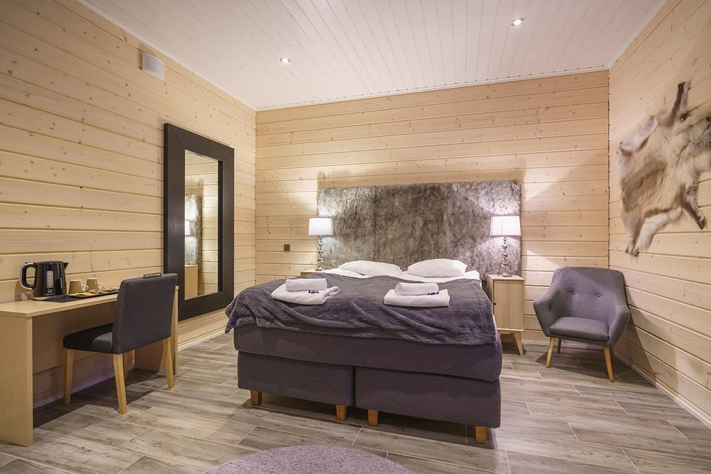 Wilderness Hotel Muotka, habitación superior con sauna
