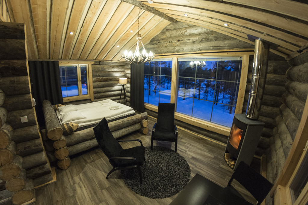 Wilderness Hotel Muotka, Panorama log cabin