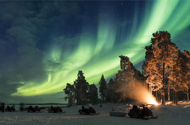 Aurora boreal, Nellim