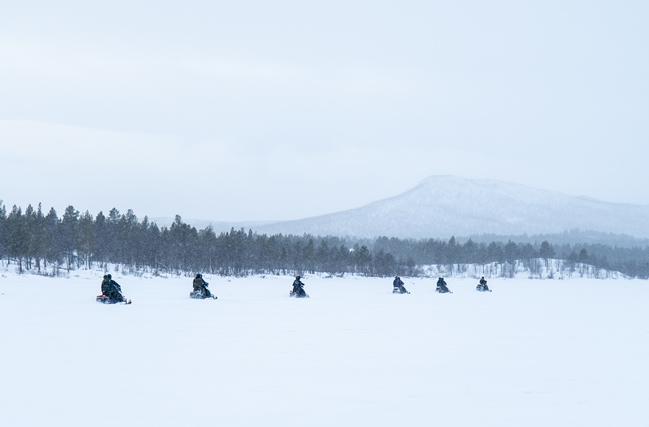 Excursión en motos de nieve