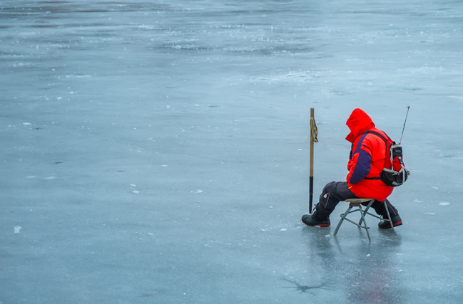Pescar en hielo