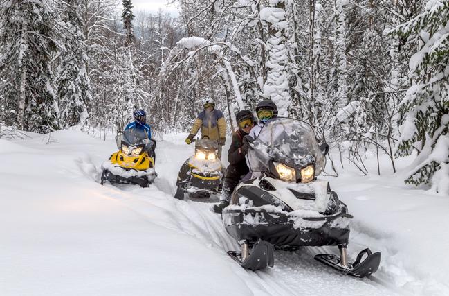 Safari en motos de nieve